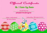 Easter Certificate Design 4